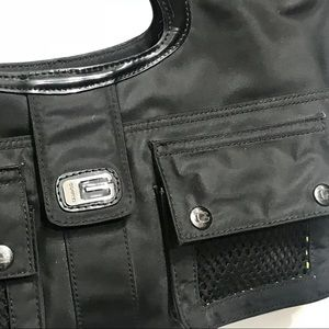 Guess Bags - Guess Large black vinyl tote